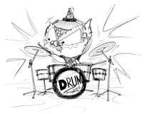 Historieta de la demostración de Siam Gumphant Playing Drum Set Fotografía de archivo libre de regalías