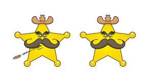 Historieta de la estrella del sheriff Imágenes de archivo libres de regalías