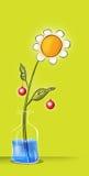 Historieta de la flor ilustración del vector