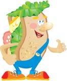 Historieta de la hamburguesa libre illustration