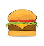 Historieta de la hamburguesa Fotos de archivo libres de regalías