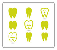 Historieta de la ilustración de los dientes Imagen de archivo libre de regalías
