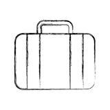 Historieta de la maleta del drenaje del bosquejo Fotografía de archivo libre de regalías