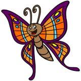 Historieta de la mariposa ilustración del vector