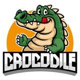 Historieta de la mascota del cocodrilo stock de ilustración