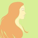 Historieta de la muchacha del vector Fotografía de archivo