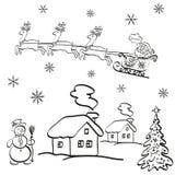 Historieta de la Navidad del día de fiesta Imágenes de archivo libres de regalías