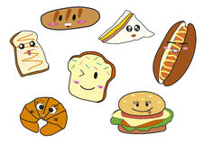 Historieta de la panadería Ilustración del Vector