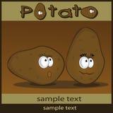 Historieta de la patata Imágenes de archivo libres de regalías
