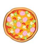 Historieta de la pizza Fotografía de archivo libre de regalías