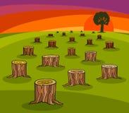 Historieta de la protección del medio ambiente Imagen de archivo