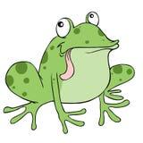 Historieta de la rana ilustración del vector