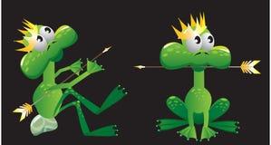 Historieta de la rana del rey ilustración del vector