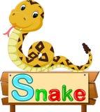 Historieta de la serpiente Imagen de archivo libre de regalías