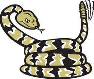 Historieta de la serpiente de cascabel stock de ilustración