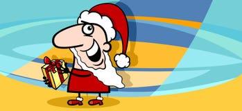 Historieta de la tarjeta de felicitación de la Navidad Imagen de archivo libre de regalías