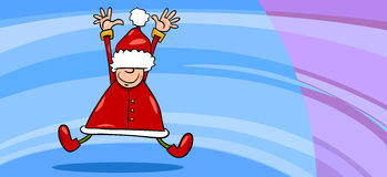 Historieta de la tarjeta de felicitación de Papá Noel Imagenes de archivo