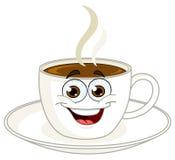 Historieta de la taza de café stock de ilustración