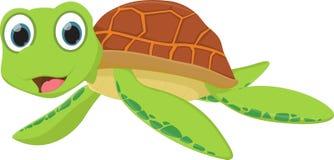 Historieta de la tortuga de mar stock de ilustración