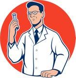 Historieta de Lab Researcher Chemist del científico Imágenes de archivo libres de regalías