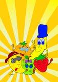 Historieta de las frutas Fotos de archivo libres de regalías