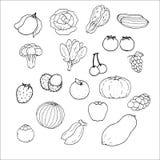 Historieta de las frutas de las verduras Imágenes de archivo libres de regalías