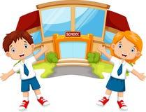Historieta de los alumnos ilustración del vector