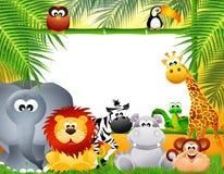 Historieta de los animales del parque zoológico Imagen de archivo libre de regalías