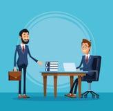 Historieta de los banqueros del hombre de negocios libre illustration