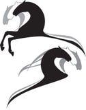 Historieta de los caballos Imagen de archivo libre de regalías