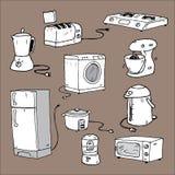 Historieta de los dispositivos de cocina Fotos de archivo