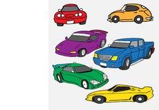 Historieta de los iconos del coche Imagen de archivo libre de regalías