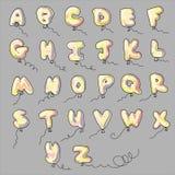 Historieta de los impulsos del alfabeto Fotos de archivo libres de regalías