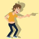 Historieta de risa del vector de la persona Imagenes de archivo