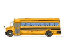 Historieta del autobús escolar stock de ilustración