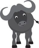 Historieta del búfalo stock de ilustración