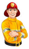 Historieta del bombero Foto de archivo
