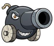 Historieta del cañón ilustración del vector