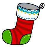 Historieta del calcetín de la Navidad. Fotografía de archivo