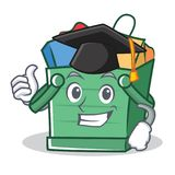 Historieta del carácter de la cesta de compras de la graduación libre illustration