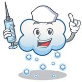 Historieta del carácter de la nube de la nieve de la enfermera Imágenes de archivo libres de regalías