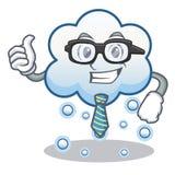 Historieta del carácter de la nube de la nieve del hombre de negocios Fotos de archivo