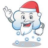 Historieta del carácter de la nube de la nieve de Papá Noel Imágenes de archivo libres de regalías
