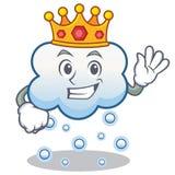 Historieta del carácter de la nube de la nieve del rey Fotos de archivo