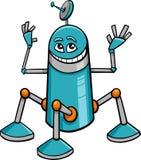 Historieta del carácter del robot Fotos de archivo libres de regalías