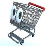 Historieta del carro de compras Imagen de archivo libre de regalías