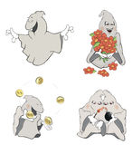 Historieta del clip art de los fantasmas Fotografía de archivo