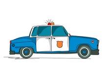 Historieta del coche policía Foto de archivo libre de regalías