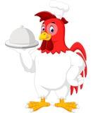 Historieta del cocinero del gallo stock de ilustración