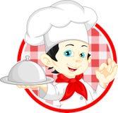 Historieta del cocinero del muchacho Imagen de archivo libre de regalías